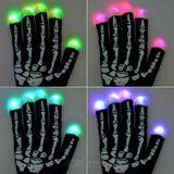 LED leuchtende Handschuhe - Skelett