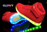 Beleuchtung LED Schuhe - rote Turnschuhe