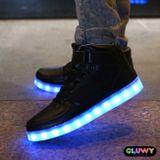 Beleuchtung LED Schuhe - schwarze Sportschuhe