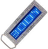Led Gürtelschnalle - Blue Diamond
