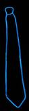 Blauer Neon Krawatte