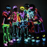 Party Neon Streifen 2,3 mm - dunkel blau