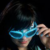 Led Sonnenbrillen - blau