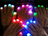 LED-Handschuhe - weiß