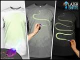Laser-T-Shirt - Zeichnen Sie Ihre Motiv