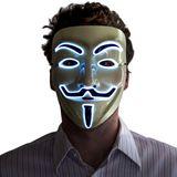 leuchtende Maske - blau
