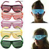 LED Brille der Partei-Waffel - gelb