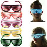 LED Party Rost Brille - Pink