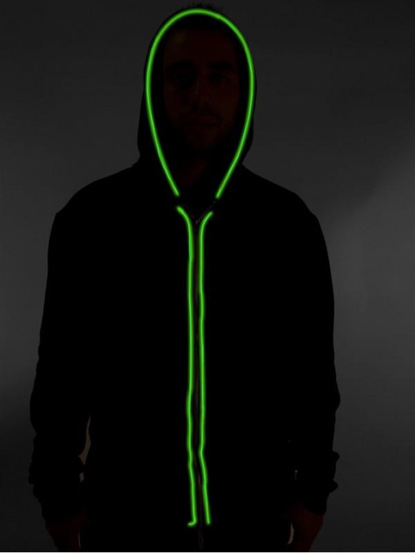 neon beleuchtung jacket gr n led t shirts get a. Black Bedroom Furniture Sets. Home Design Ideas