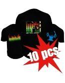 Led T-shirts - 10x Pack