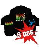 Led T-shirts - 5x Pack