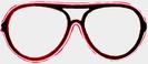 Neon Gläser - rot