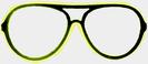 Neon-Brille - gelb