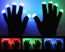 LED Handschuhe - schwarz