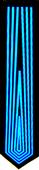 LED Krawatte - Tron