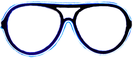 Gläser Neon - blau