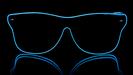 Weise Ferrer Neon Gläser - blau