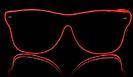 Weise Ferrer glänzende Gläser - rot